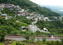 Jiufen in Taiwan. Shops and Restaurants in Jiufen hillside in Taiwan stock images