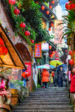 Jiufen, Taiwan Stairs Royalty Free Stock Photos
