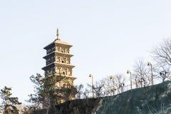 Jiuhua mountain pagoda Royalty Free Stock Photography