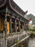 Jiuhuashan mountains. One of the many saint budhist mountains in China. Anhui province Royalty Free Stock Photography