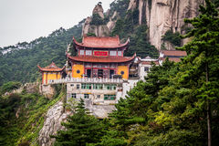 Jiuhuashan mountains. One of the many saint budhist mountains in China. Anhui province Stock Photography