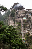 Jiuhuashan mountains. One of the many saint budhist mountains in China. Anhui province Royalty Free Stock Photos
