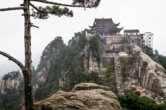 Jiuhuashan mountains. One of the many saint budhist mountains in China. Anhui province Royalty Free Stock Photo