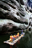 The Jiulong lake and mountain views in Taining,Fujian,China Royalty Free Stock Images