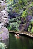 The Jiulong lake and mountain views in Taining,Fujian,China Royalty Free Stock Photography