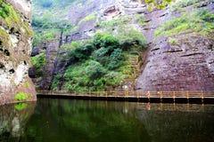 The Jiulong lake and mountain views in Taining,Fujian,China Royalty Free Stock Photos