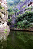 The Jiulong lake and mountain views in Taining,Fujian,China Royalty Free Stock Image