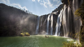 The Jiulong (nine dragon )waterfall yunnan Stock Photo
