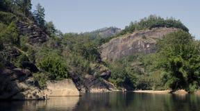 Jiuquxi stream scenery Royalty Free Stock Image