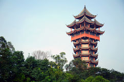 Jiutian Tower Stock Image
