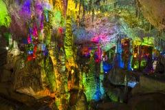 Jiuxiang cave royalty free stock photos