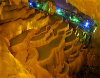 Jiuxiang Stalactite Terrace. Jiuxiang is a scenic area in Kunming , the capital of Yunnan province. It is famous for its caves, mountains, rivers, deep valleys Royalty Free Stock Image