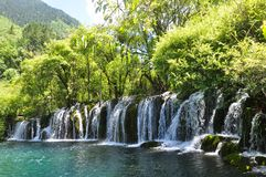 Jiuzhai谷国家公园 图库摄影