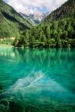 Jiuzhai谷的Mirror湖 免版税库存图片