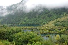 jiuzhaigou风景谷 免版税库存照片