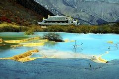 Jiuzhaigou. Autumn tree and lake in jiuzhaigou,Sichuan,China Royalty Free Stock Image