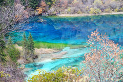 Jiuzhaigou Colorful lake Stock Photography