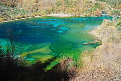 Jiuzhaigou colorful lake Stock Photos