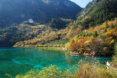 Jiuzhaigou colorful lake Stock Image