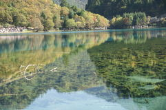 Jiuzhaigou-Herbstlandschaft in China Lizenzfreies Stockfoto