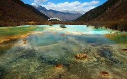 Jiuzhaigou huanglong autumn scenery in China. Sichuan's huanglong autumn scenery in China Royalty Free Stock Photos