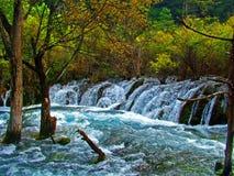 Jiuzhaigou-Landschaft in China Stockbild