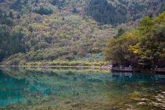 Jiuzhaigou -- na ziemi raj Zdjęcie Stock