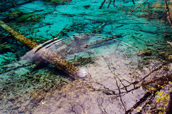 Jiuzhaigou National Park,Sichuan China. Clear lake water in Jiuzhaigou National Park,Sichuan China Stock Image
