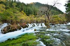Jiuzhaigou National Park,Sichuan China. Waterfall in Jiuzhaigou National Park,Sichuan China Stock Photo