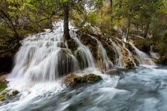 Jiuzhaigou nationalpark arkivfoton