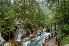 Jiuzhaigou nationalpark, Kina arkivfoton