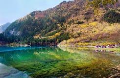 Jiuzhaigou nationalpark, Sichuan Kina Royaltyfri Fotografi
