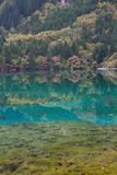 Jiuzhaigou -- the paradise on the earth. Wucai lake, one of the most beautiful lakes Royalty Free Stock Image