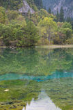 Jiuzhaigou -- the paradise on the earth. Wucai lake, one of the most beautiful lakes Stock Photography