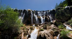 Jiuzhaigou pearl beachwaterfall Royalty Free Stock Images