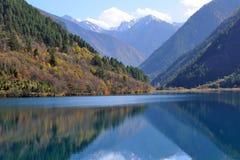 Jiuzhaigou rhinoceros lake. In autumn Stock Photography