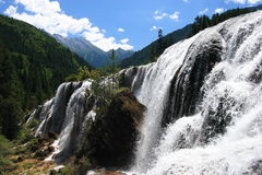 Jiuzhaigou Scenic Area. Natural waterfalls in the Jiuzhaigou Scenic Area, Huanglong Valley, China Royalty Free Stock Photo