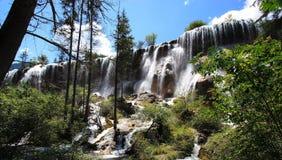 Jiuzhaigou Scenic Area. Natural waterfalls in the Jiuzhaigou Scenic Area, Huanglong Valley, China Stock Photos