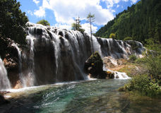 Jiuzhaigou Scenic Area. Scenic waterfall in the Jiuzhaigau Scenic Area, China Stock Image
