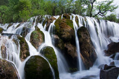 Jiuzhaigou Shuzheng waterfall Stock Photos