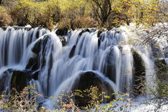 Jiuzhaigou shuzheng waterfall Royalty Free Stock Photos