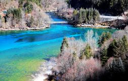 Jiuzhaigou in Sichuan Aba winter scene Royalty Free Stock Photos