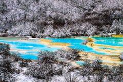 Jiuzhaigou Valley Сычуань Китай стоковые фотографии rf