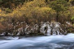 Jiuzhaigou Valley nationalpark Fotografering för Bildbyråer