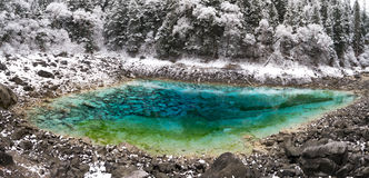 Jiuzhaigou Valley WUCAI POND Royalty Free Stock Photos
