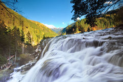 Jiuzhaigou vattenfall arkivbild