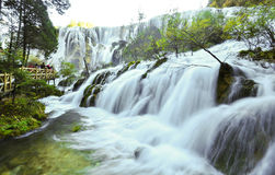 Jiuzhaigou-Wasserfall stockfoto