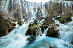 Jiuzhaigou-Wasserfall stockfotos