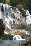Jiuzhaigou waterfall. Beautiful waterfall in a spectacular valley in Sichuan province, China Stock Images