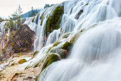 Jiuzhaigou waterfall in autumn Royalty Free Stock Images